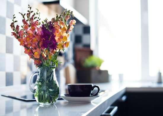 Arrange found flowers
