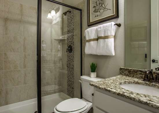Styled bathroom