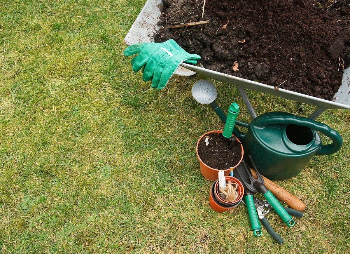 Leaving-gardening-supplies-on-the-lawn