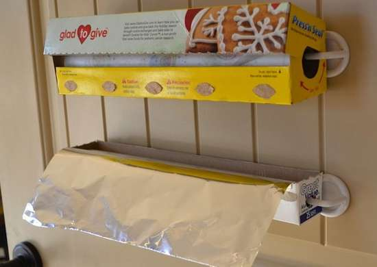 Storing Plastic Wrap and Aluminum Foil