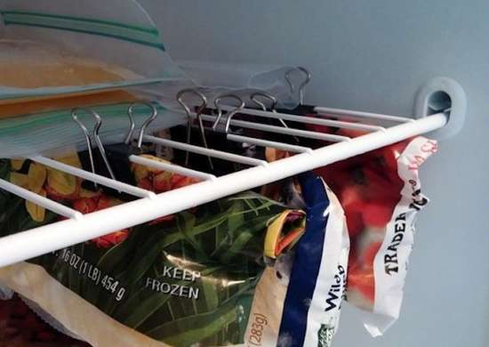 Binder Clip Freezer Storage