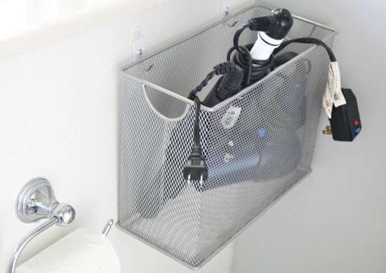 Hair Dryer Storage Idea