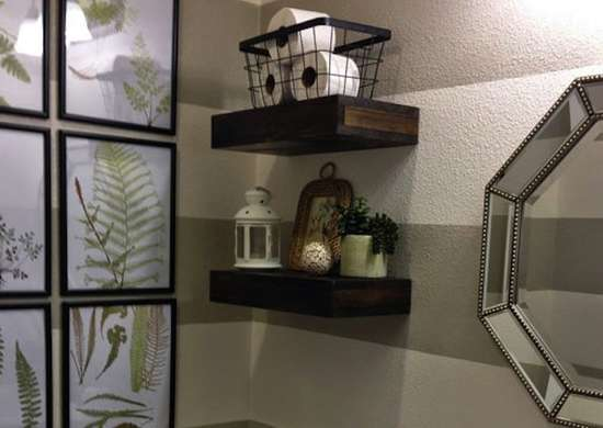 Floating Shelves in the Bathroom