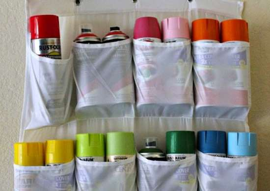 Spray Paint Storage