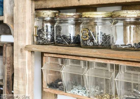 Reuse Glass Jars to Organize Your Workshop