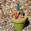 Upcycle a Planter to Store and Sharpen Garden Tools