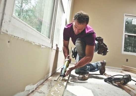 Construction-adhesive-baseboard