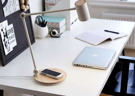 Phone charger table lamp