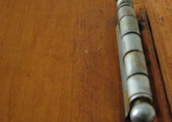 Fix squeaky doors with vaseline