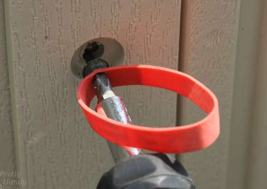 Use a Rubber Band to Remove a Stripped Screw
