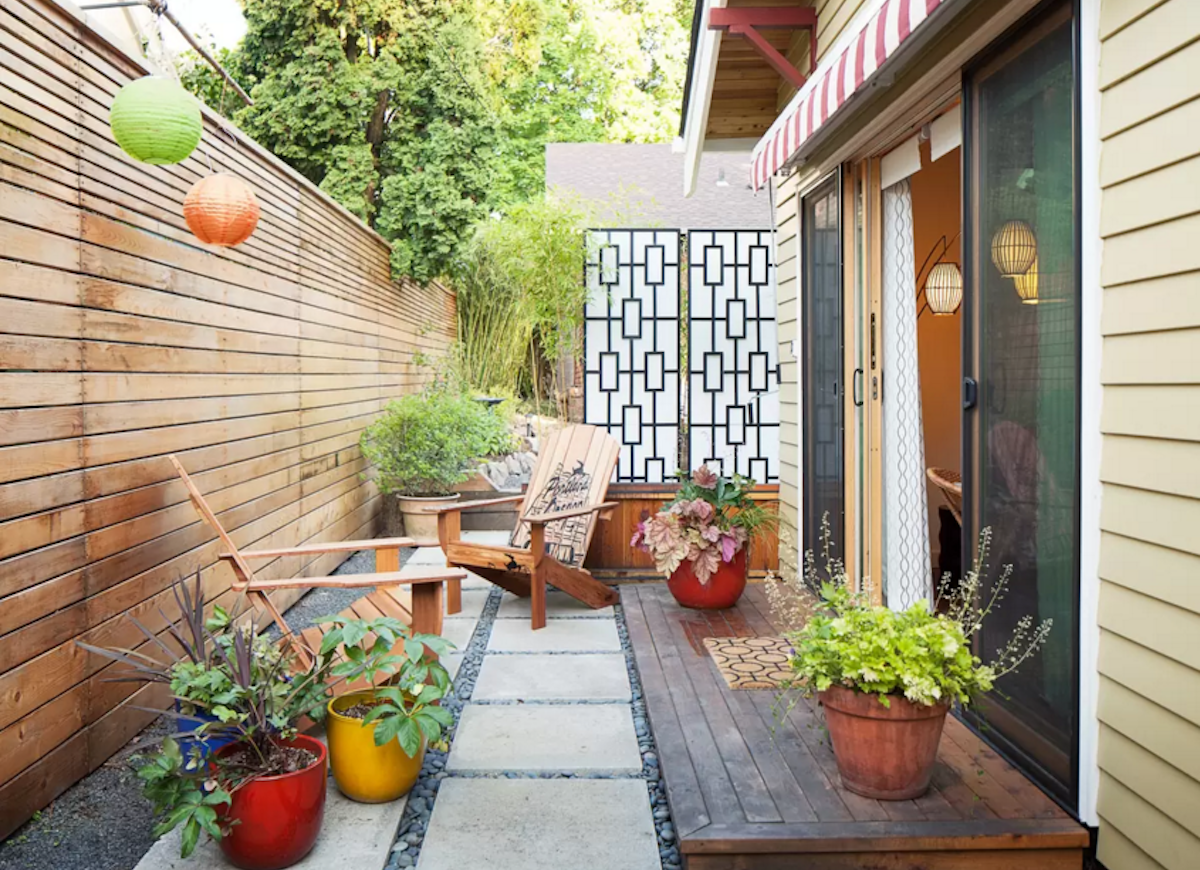 Small backyard ideas privacy screen