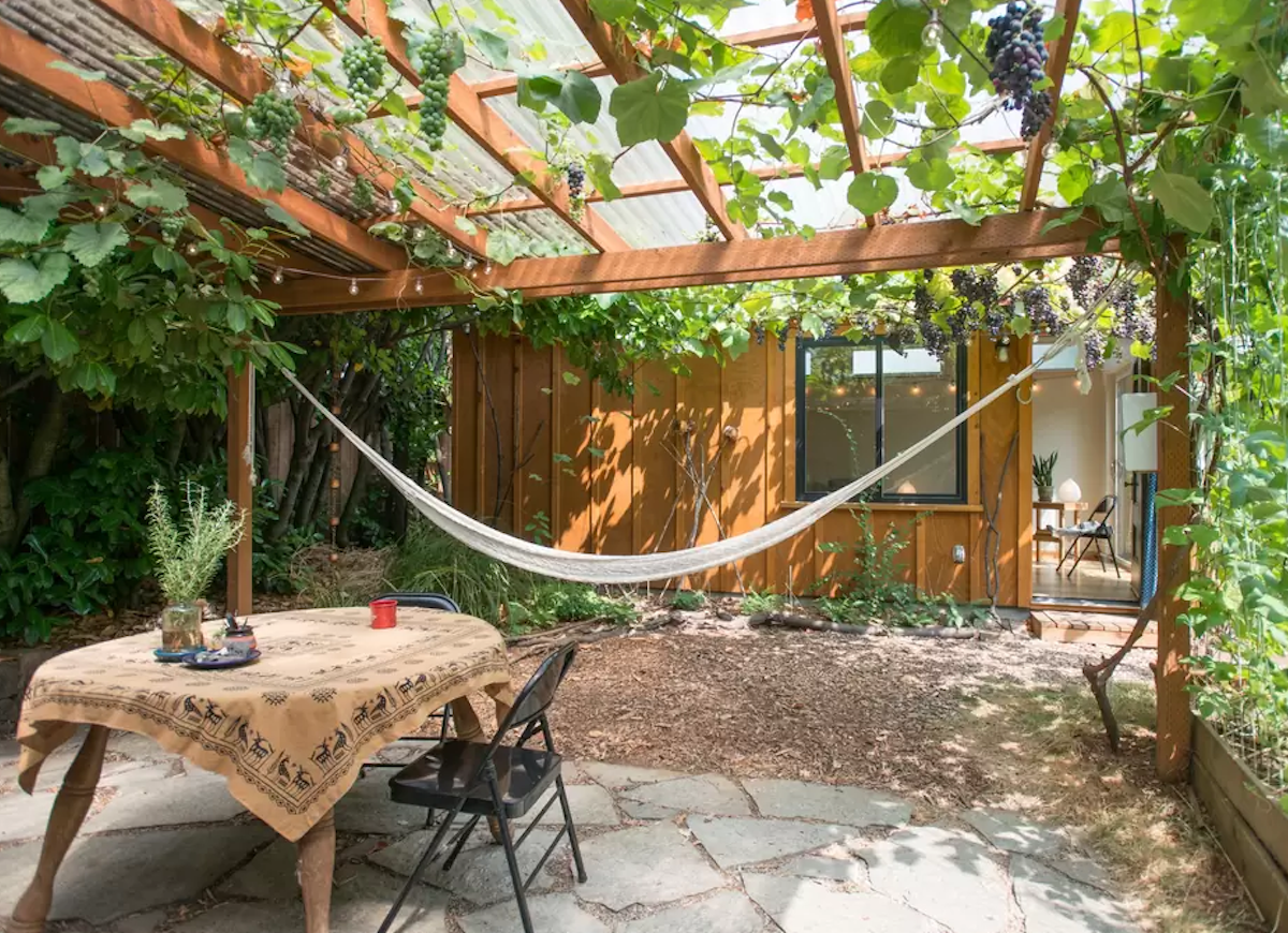 Small backyard ideas hammock
