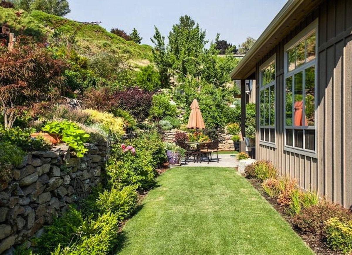 Small backyard ideas sloped yard