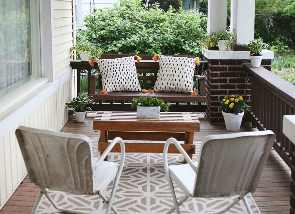 Front porch seating arrangement front porch ideas 9 New home furniture ideas