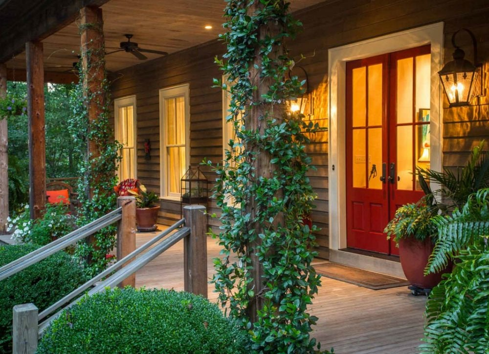 Front porch ideas 9 tips from real homes bob vila for Log cabin porch