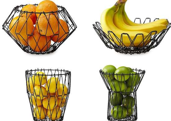 Folding Wire Fruit Basket