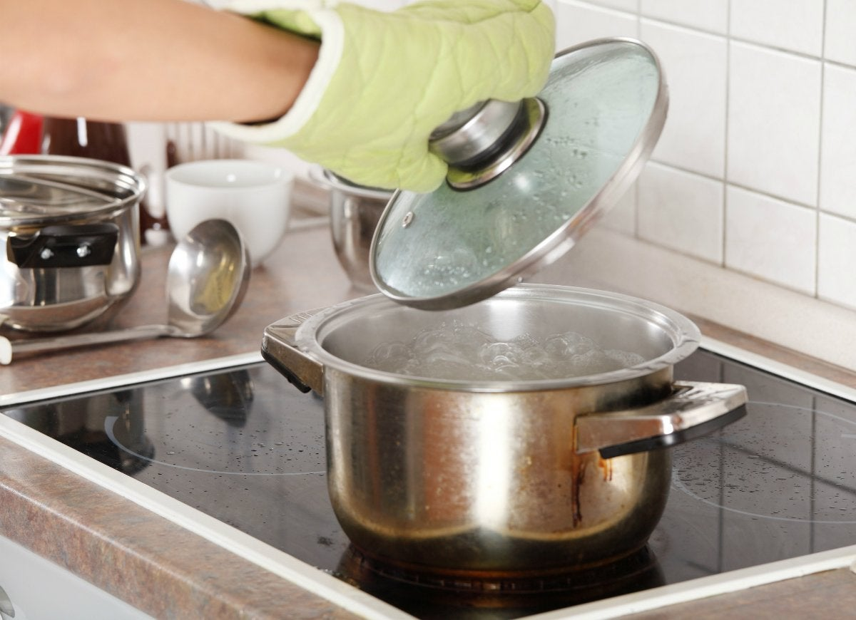 Boil water and vinegar on the stove