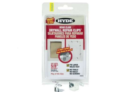 Hyde 5 8inch bear claw drywall repair clips