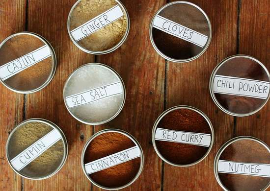 Diy magnetic spice storage