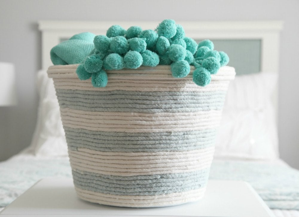Trash can to diy laundry basket