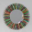 Colorful Clothespin Mirror