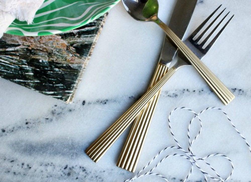Painted silverware flatware