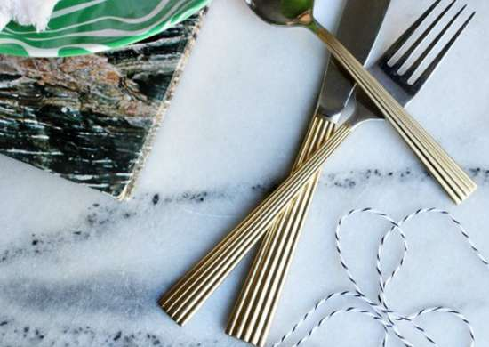 Painted silverware flatware