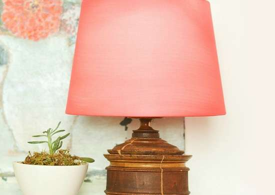 Lampshade Makeover with Tights