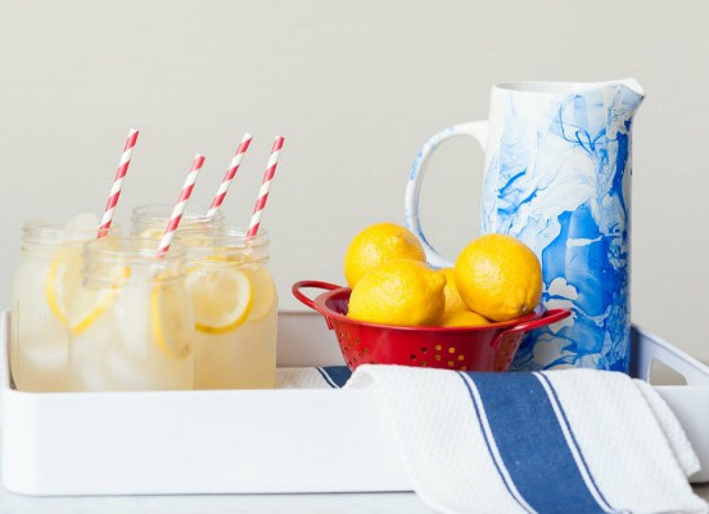 Diy marbled ceramic pitcher