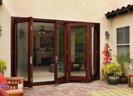 Folding patio door system