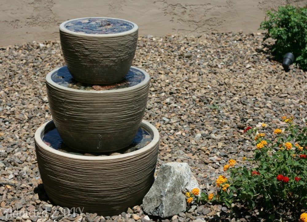 Diy backyard water feature