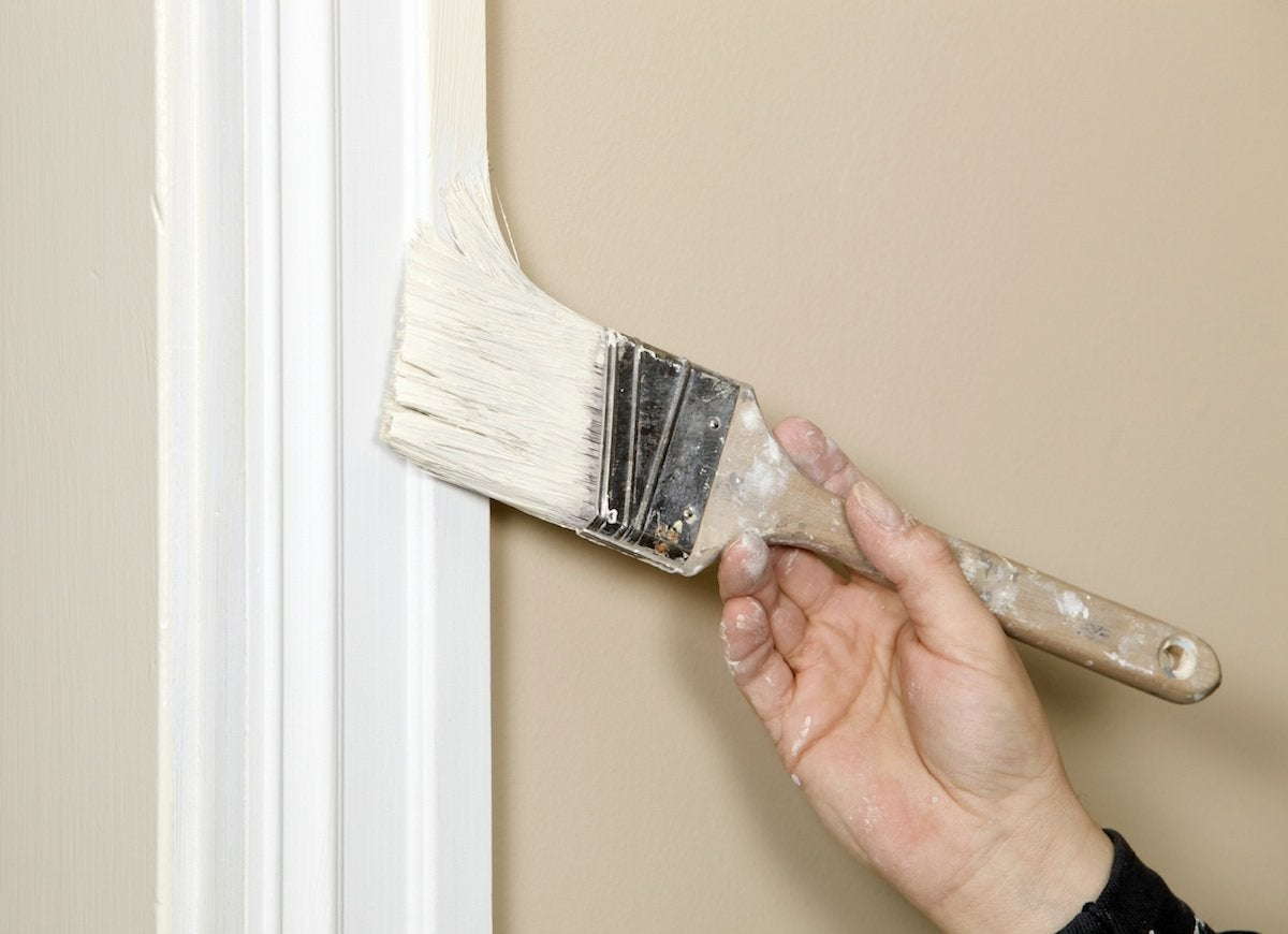 Painting trim white