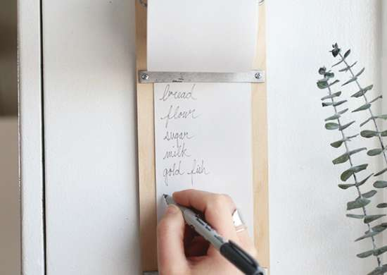 Diy shopping grocery list pad