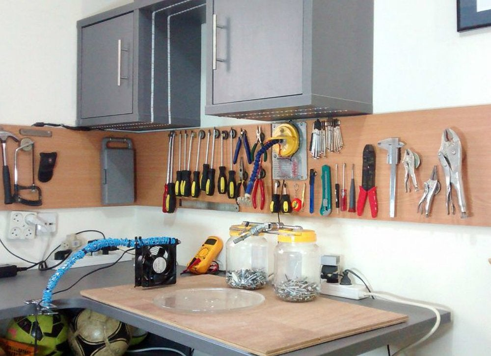 Diy magnetic tool storage