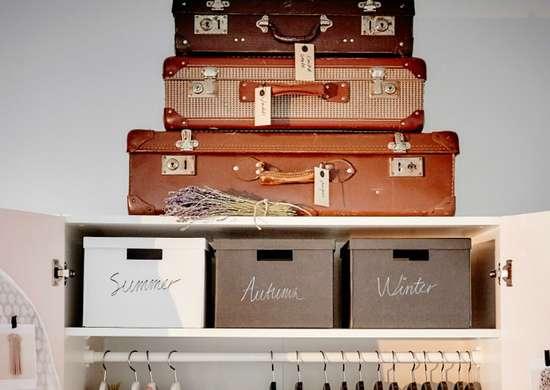 Use suitcases for storage