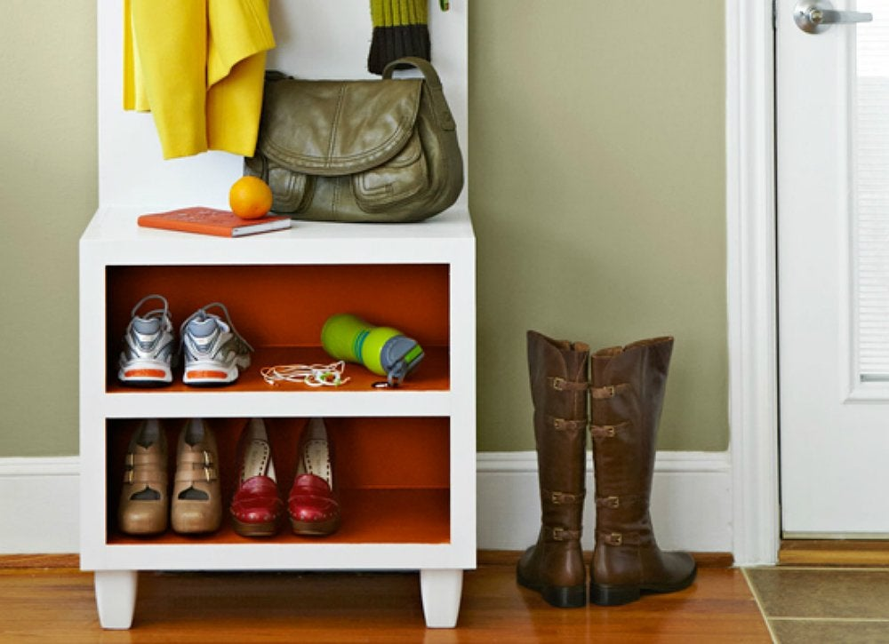 Declutter your home 23 clever ways to stay organized - Diy shoe storage for entryway ...