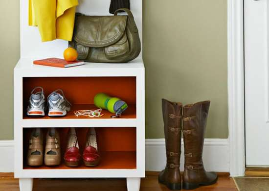 Diy shoe storage bench entryway coat rack