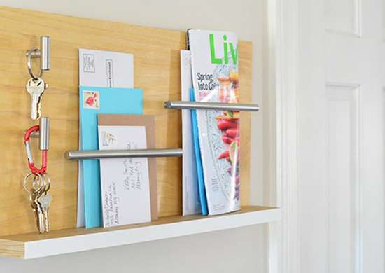 Make an Entryway Organizer for Mail and Keys