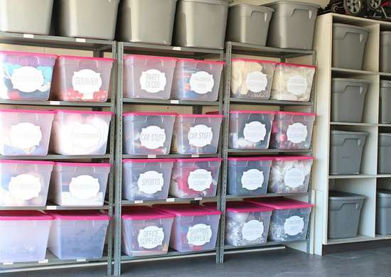 Make your own storage bin labels
