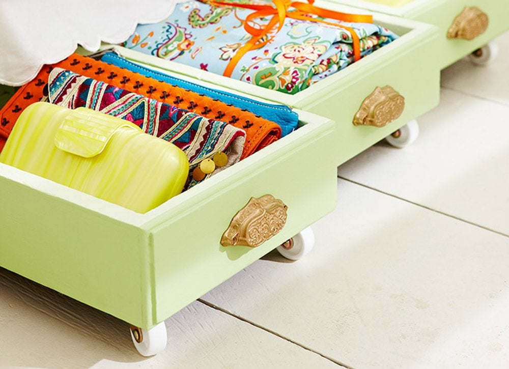 Diy rolling storage bins