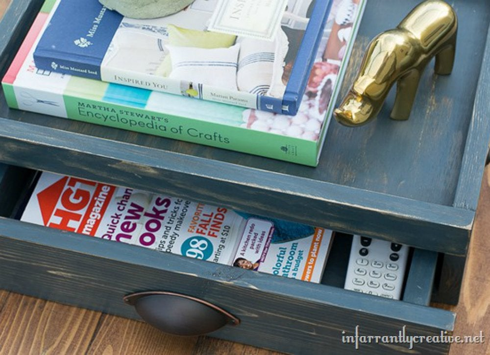 Diy storage tray hidden drawer