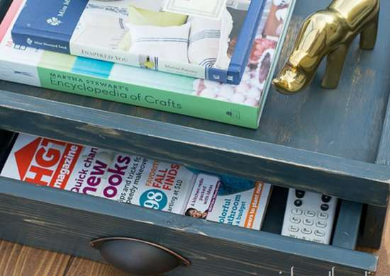 Stash Clutter Quickly with a Hidden Storage Tray