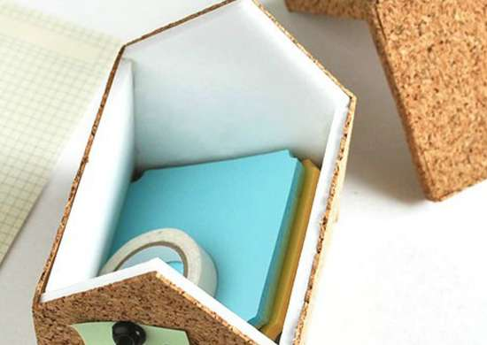 Craft Cork-Covered Storage Boxes