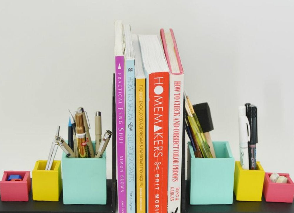 Diy storage organizer bookends