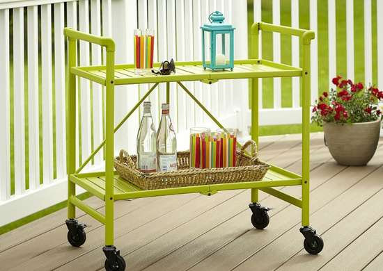 Green_indoor_outdoor_rolling_cart