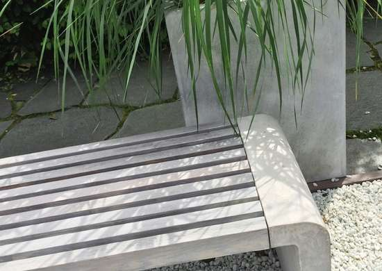 Concrete patio furniture