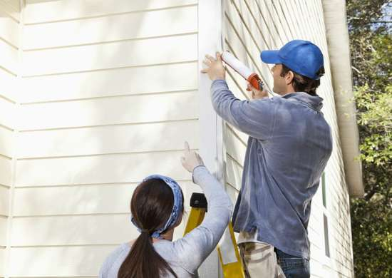 Replace exterior caulk