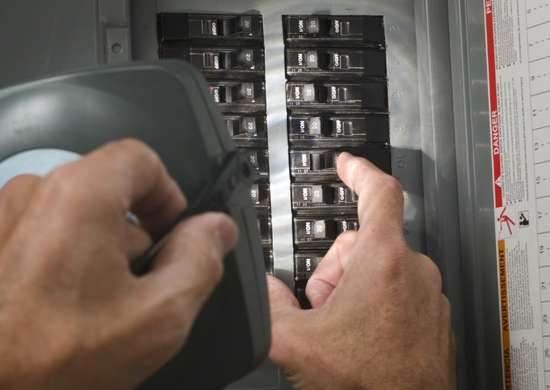 Flip circuit breaker switches