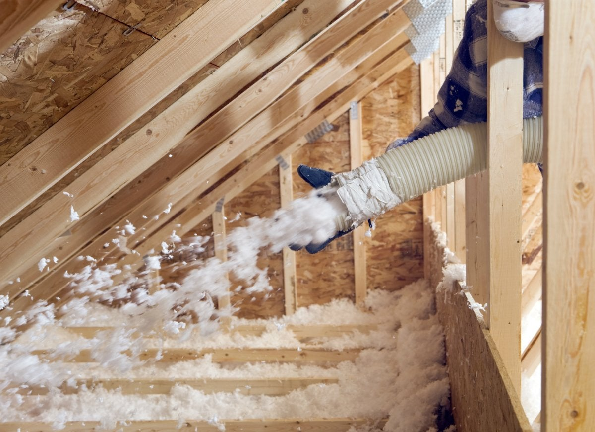 Insulate attic to prevent heat loss