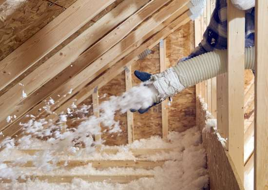 Insulate-attic-to-prevent-heat-loss